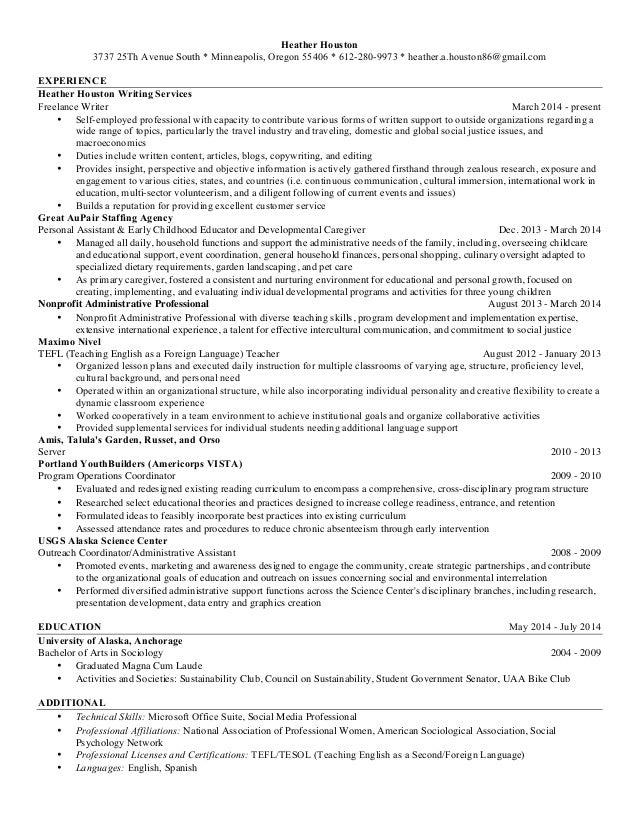 houston resume simplified