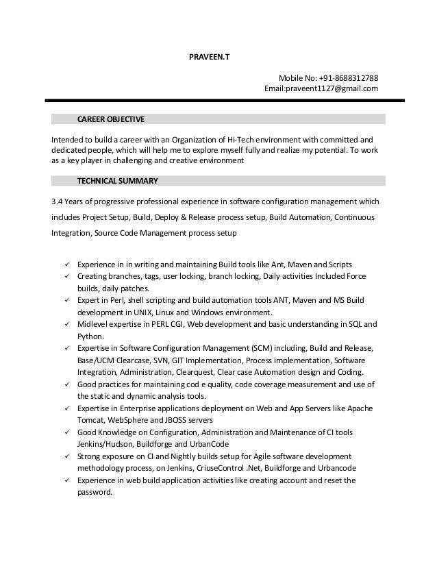 praveen scm resume
