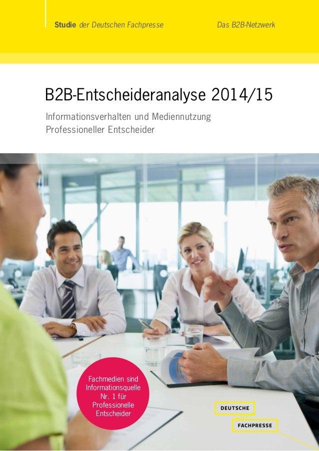 """Neu ist noch ein """"Störer"""", der ins Bild. Inhalt folgt Studie der Deutschen Fachpresse Das B2B-Netzwerk B2B-Entscheideranal..."""
