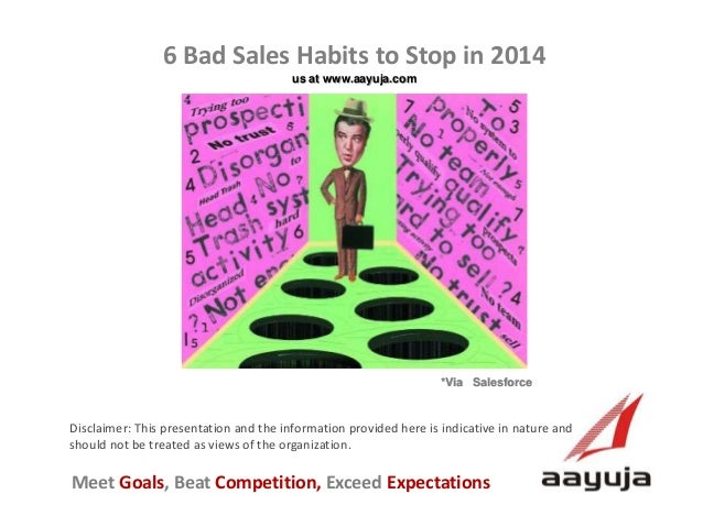 6 Bad Sales Habits to Stop in 2014