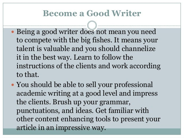 Become a writer online