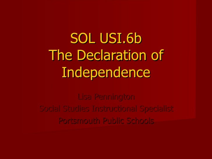 6b declaration of independence