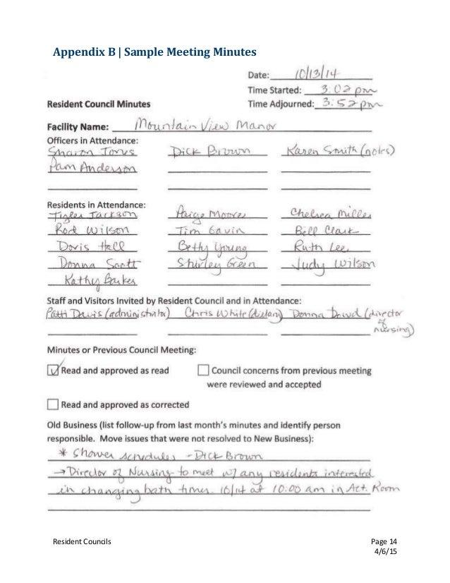 agenda of meeting sample format