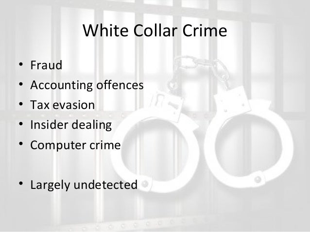 crime fraud and overall white collar essay While white-collar crimes had not received a lot of attention in the past, advances in technologies have increased opportunities to commit these types of crimes by individuals of varying socioeconomic statuses.