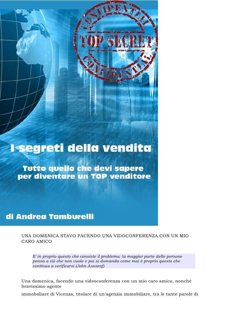 Andrea Tamburelli - I segreti della vendita (6 capitoli)