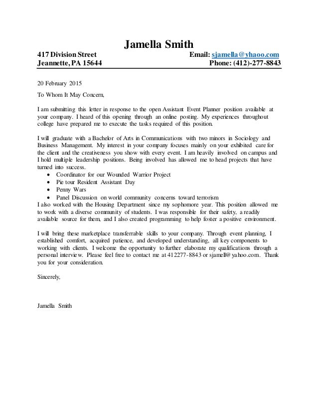 general cover letter template microsoft