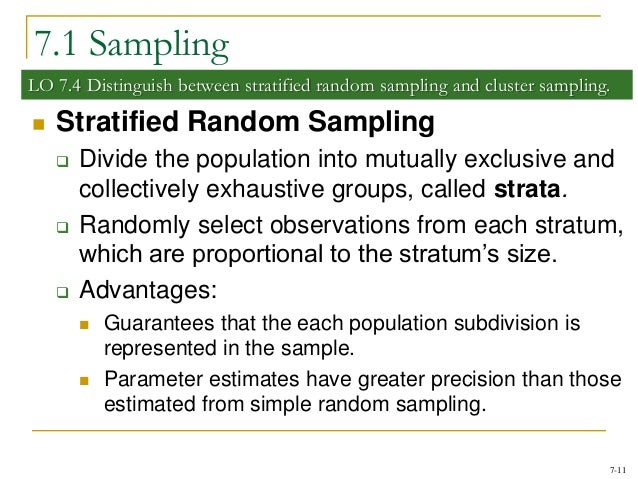 an example of stratified samplings use