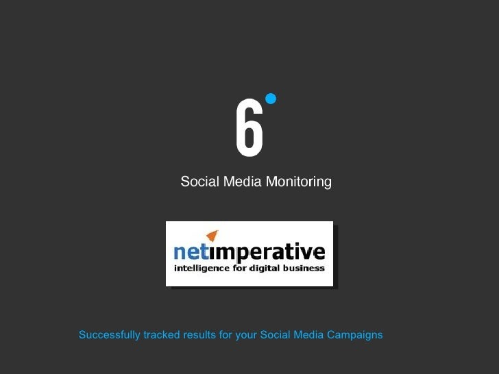 Successfully tracked results for your Social Media Campaigns
