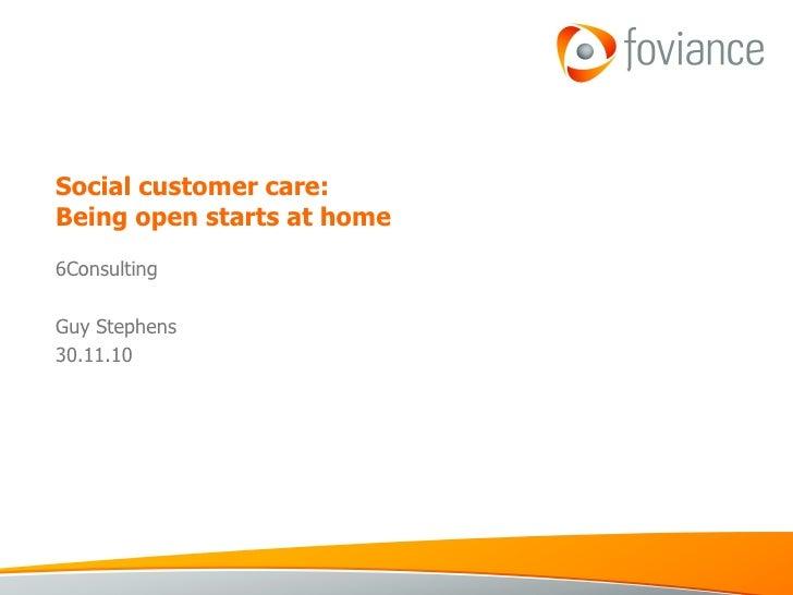Customer Service 2.0 | Guy Stephens Presentation