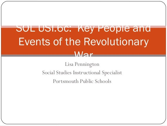 6c people and events of rev war