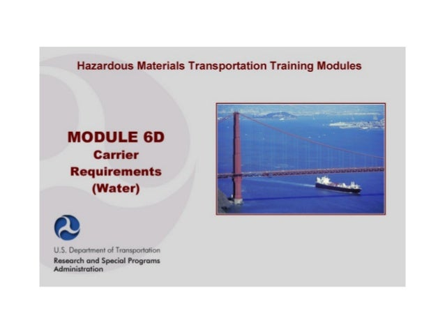 6d. module6d carrier requirement_water