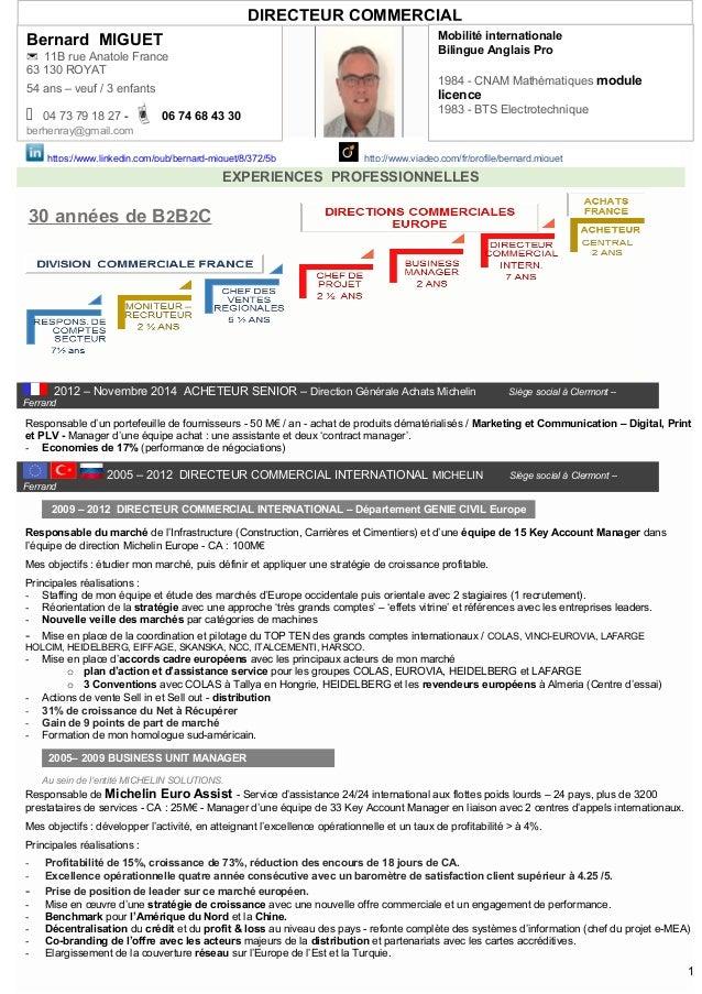 EXPERIENCES PROFESSIONNELLES 2012 – Novembre 2014 ACHETEUR SENIOR – Direction Générale Achats Michelin Siège social à Cler...