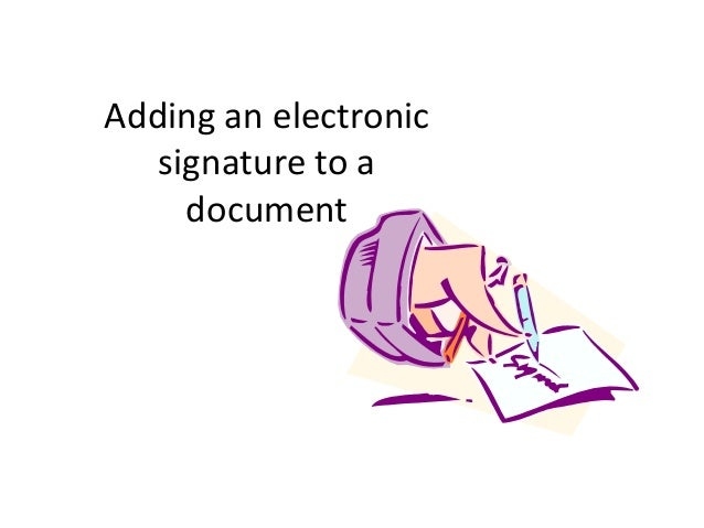how to add an electronic signature to a document