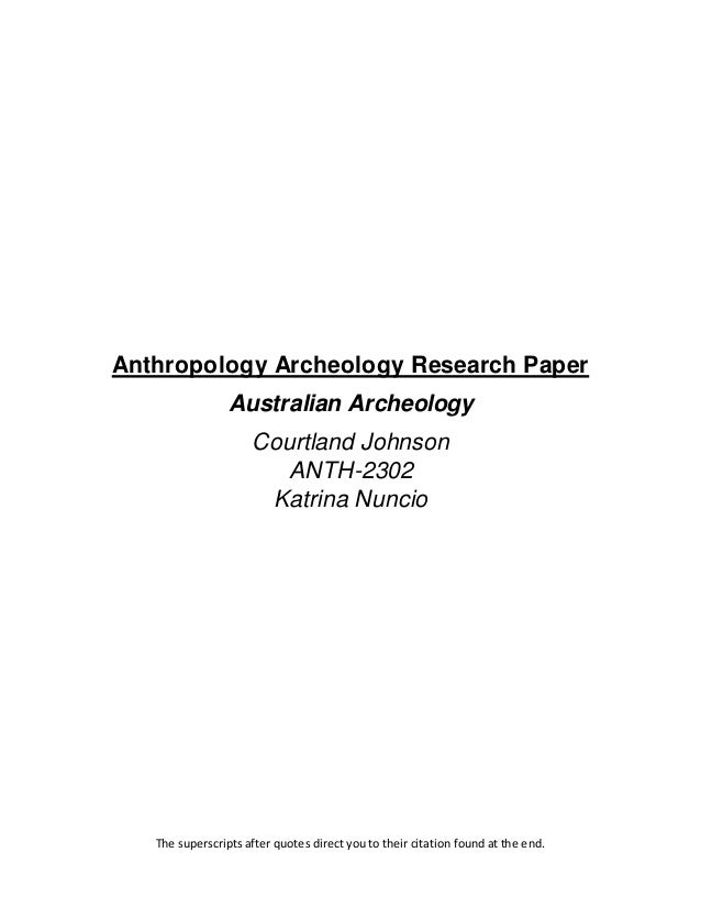 Archaeology Research Paper Topics