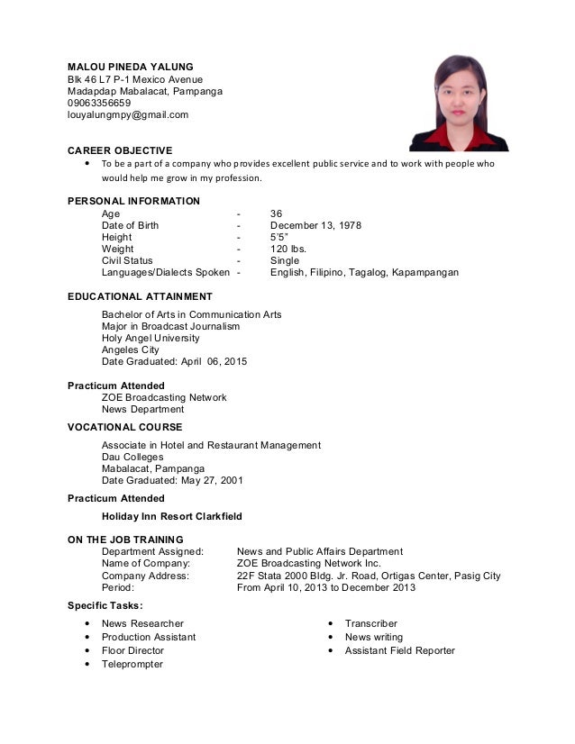 75 ojt resume sle application letter for ojt