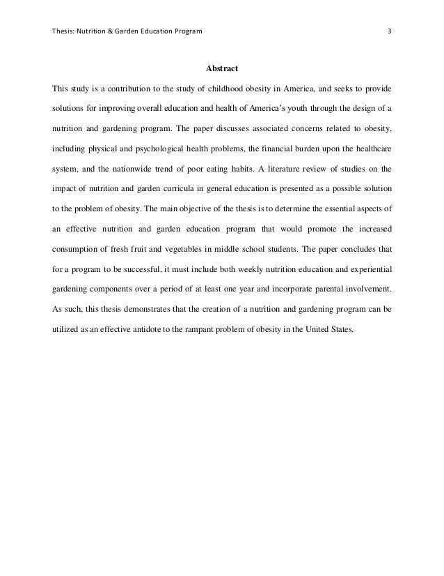 Thesis about education