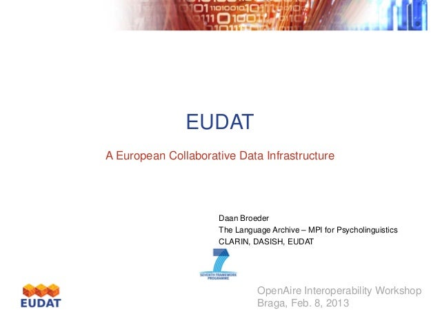 EUDAT A European Collaborative Data Infrastructure  Daan Broeder The Language Archive – MPI for Psycholinguistics CLARIN, ...