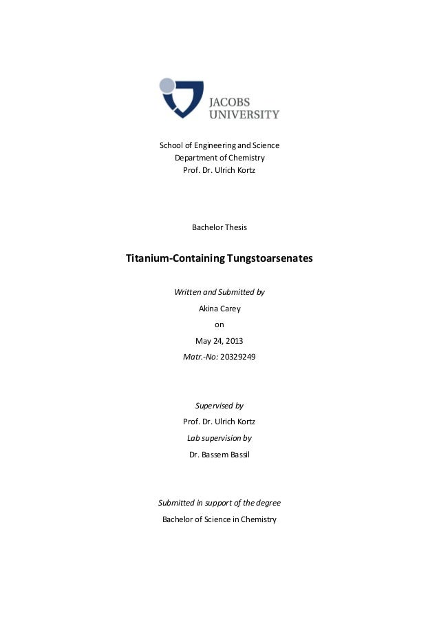 Available Master's thesis projects
