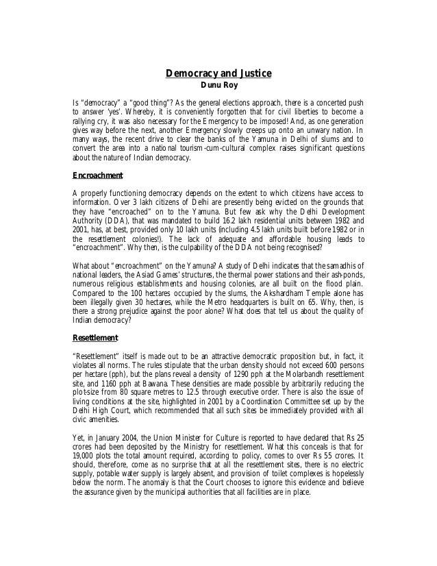 6 democracy and justice   dunu roy