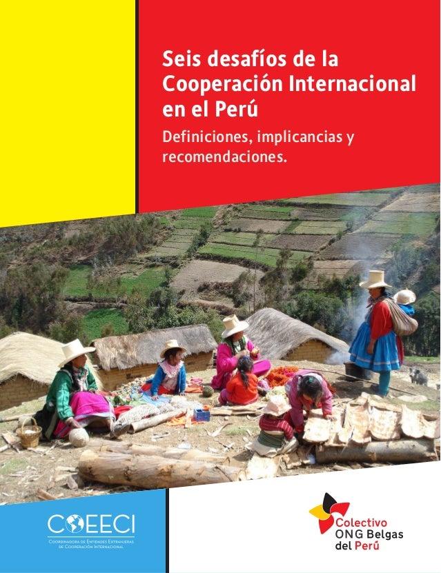 6 desafios de la cooperación internacional en el perú