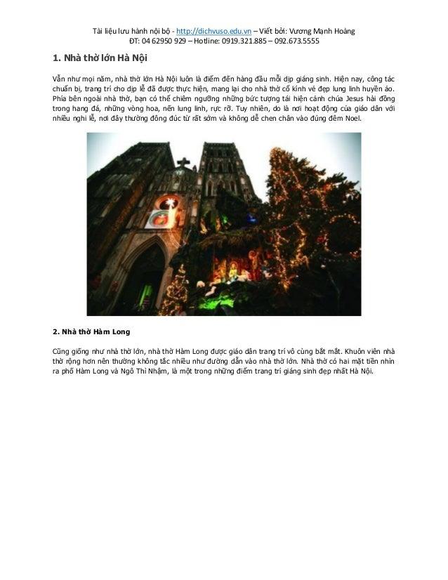 Tài liệu lưu hành nội bộ - http://dichvuso.edu.vn – Viết bởi: Vương Mạnh Hoàng ĐT: 04 62950 929 – Hotline: 0919.321.885 – ...