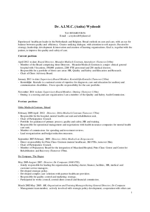 anita wydoodt cv english