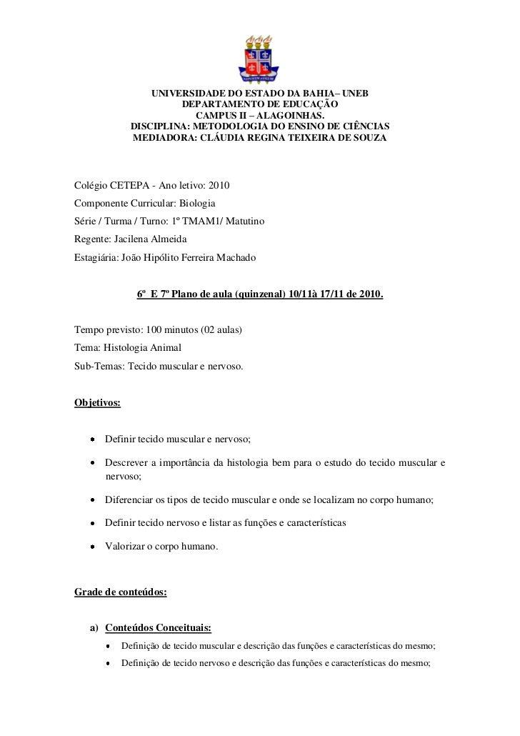 UNIVERSIDADE DO ESTADO DA BAHIA– UNEB                        DEPARTAMENTO DE EDUCAÇÃO                           CAMPUS II ...