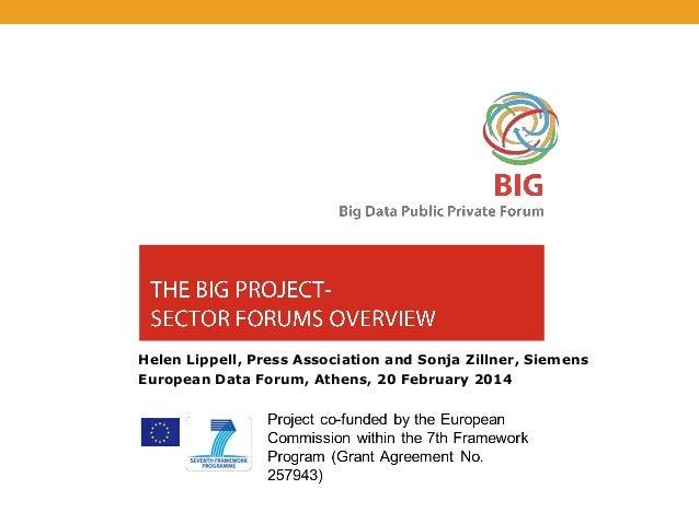 Helen Lippell, Press Association and Sonja Zillner, Siemens European Data Forum, Athens, 20 February 2014