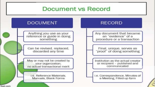 documents or records by krom valeeryano With documents 5 vs documents 6