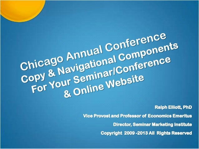 Website Copy Components For Seminar, Conference, & Online Conversions