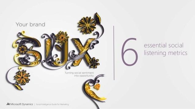 | Social Intelligence Guide for Marketing 6essential social listening metrics