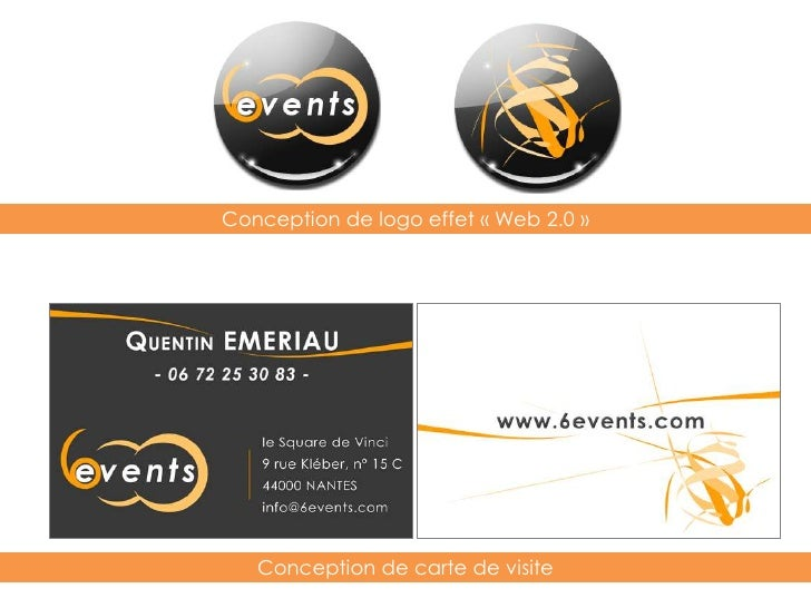 Conception de logo effet « Web 2.0 »<br />Conception de carte de visite<br />