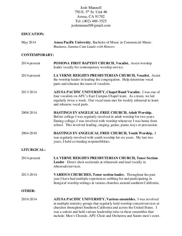 Pastor Resume Cover Letter Resume Cover Letter And Letters For Alusmdns