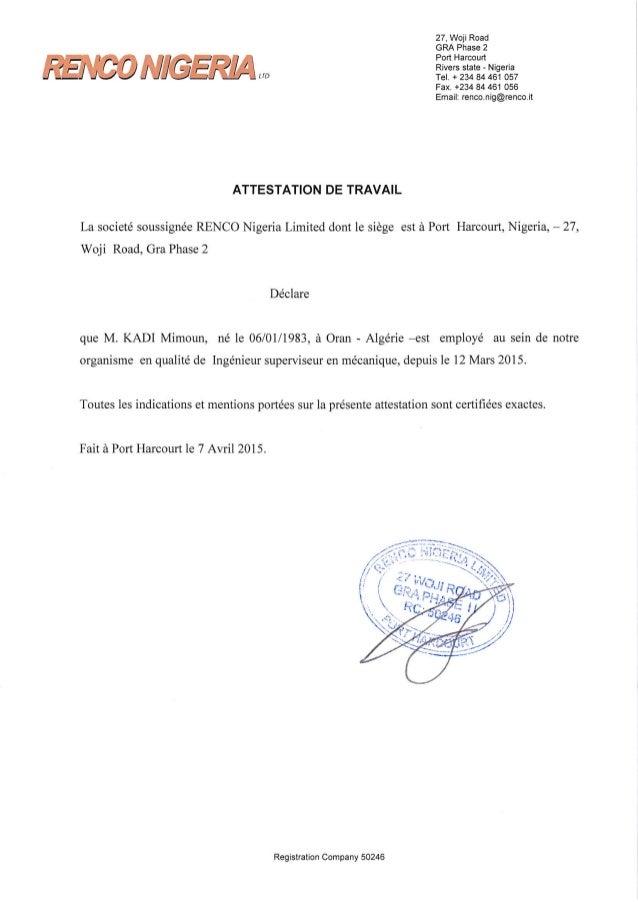 Modele attestation de travail canada document online - Attestation de tva ...