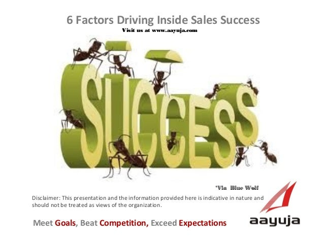 6 Factors Driving Inside Sales Success