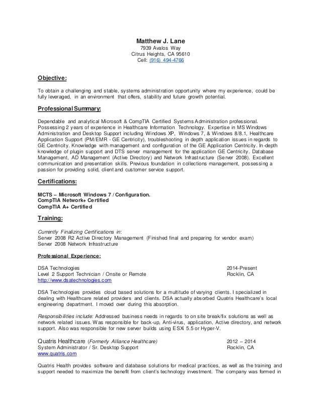 certifications resume