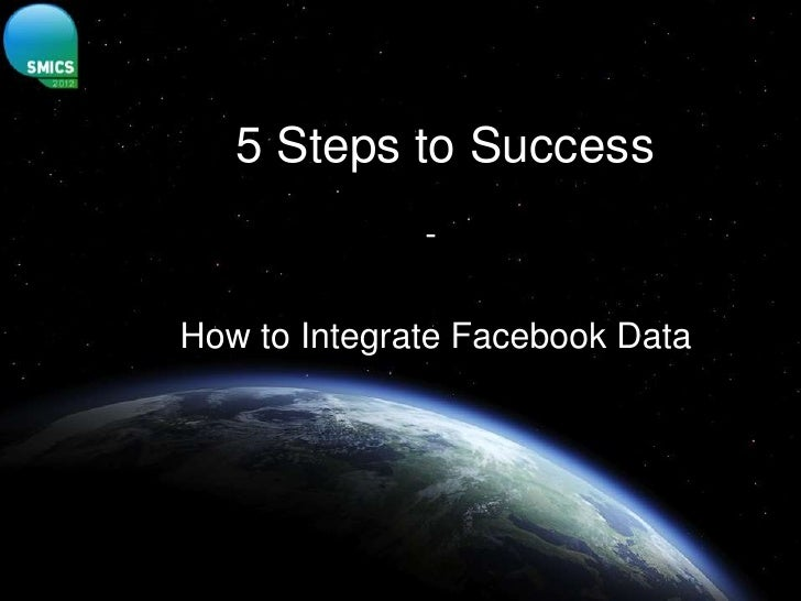 5 Steps to Success              -How to Integrate Facebook Data