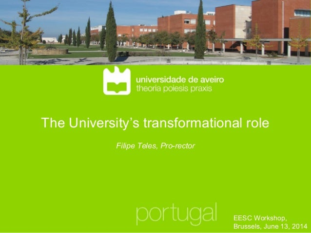 The University's transformational role