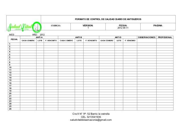 6 formato mantenimientos y cronograma