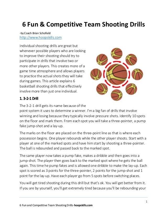 6 fun and competative basketball team shooting drills