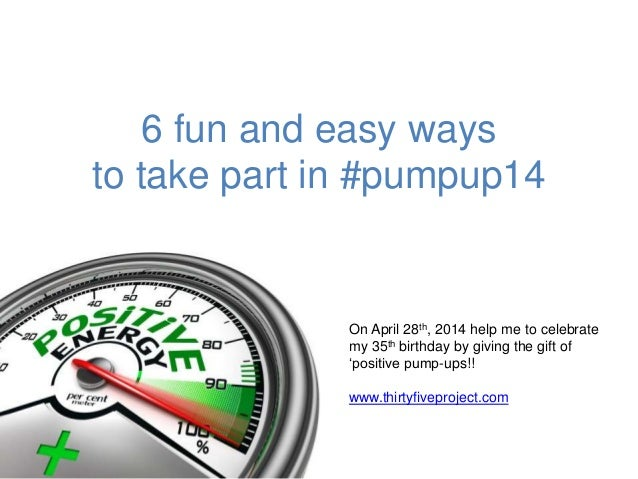 6 fun and easy ways to take part in #pumpup14...