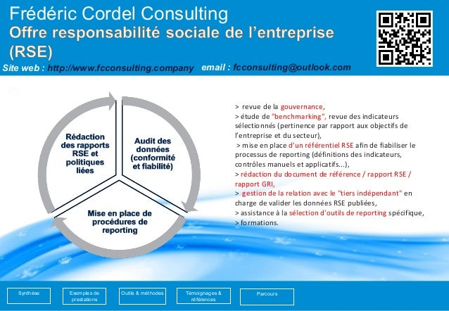 1  Frédéric Cordel Consulting  Site web : http://www.fcconsulting.company  email : fcconsulting@outlook.com  Synthèse Parc...