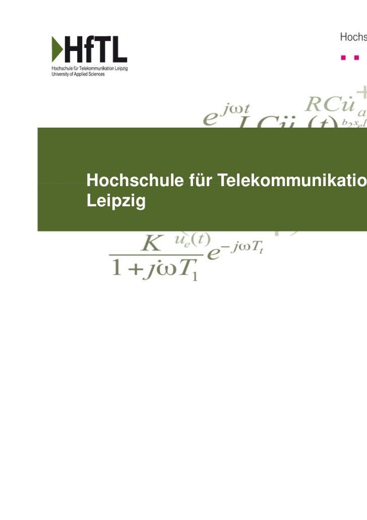 Hochschule für TelekommunikationLeipzig