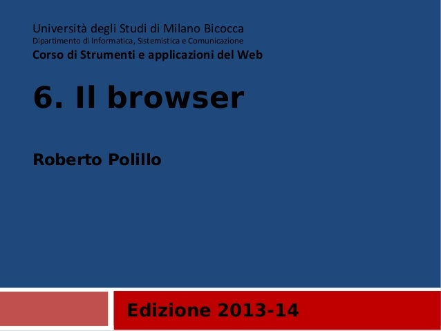 6. Il browser