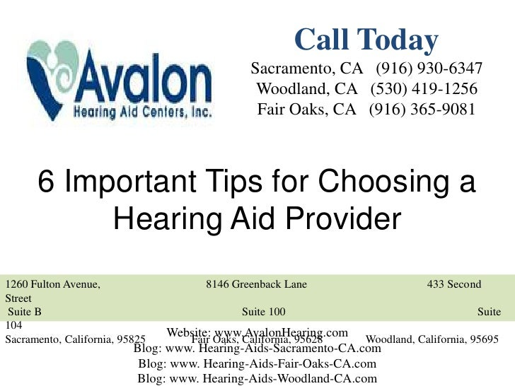 6 Important Tips for Choosing a Hearing Aid Provider