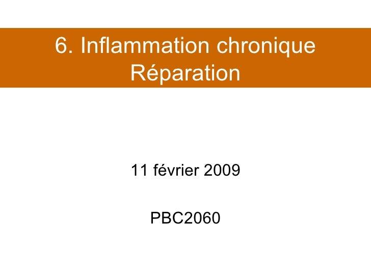 Cours 6. Inflammation et réparation