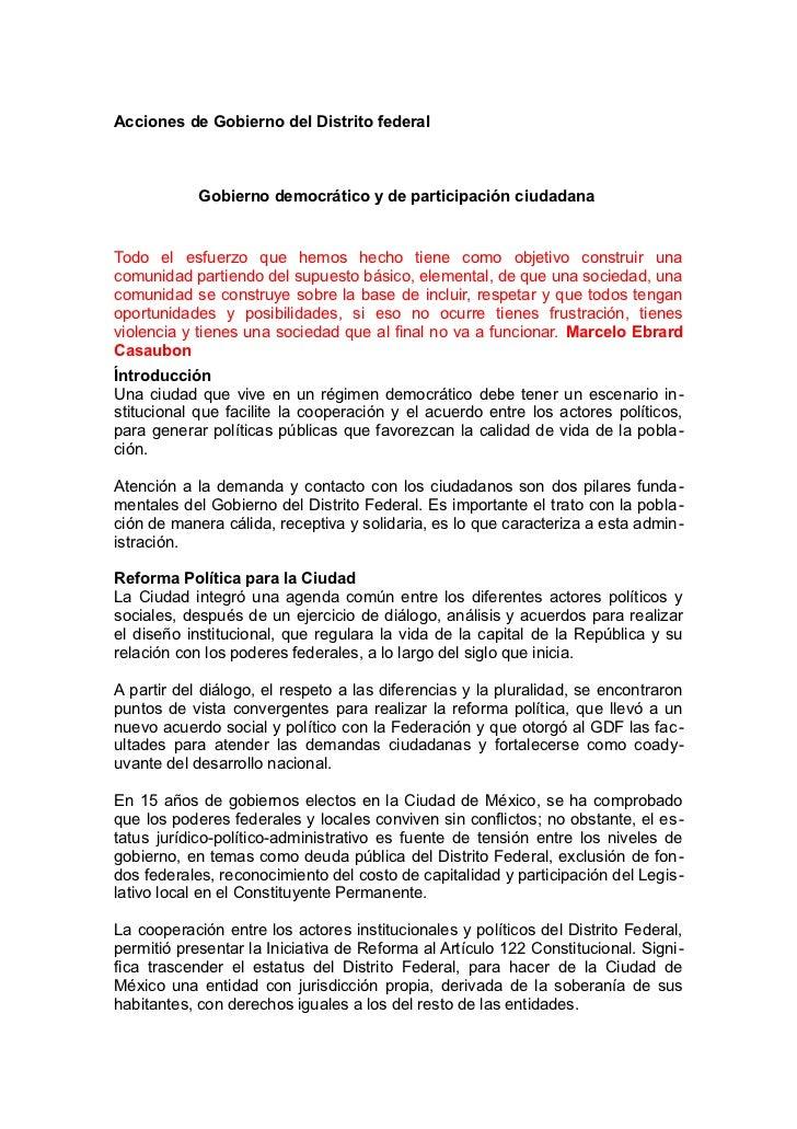 Marcelo Ebrard: Sexto Informe