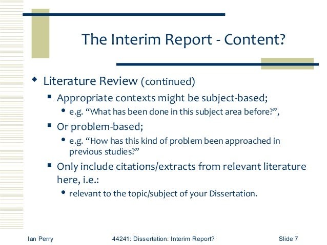 What To Include In A Dissertation