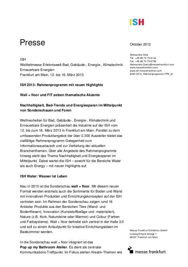 Presse                                                                  Oktober 2012                                      ...