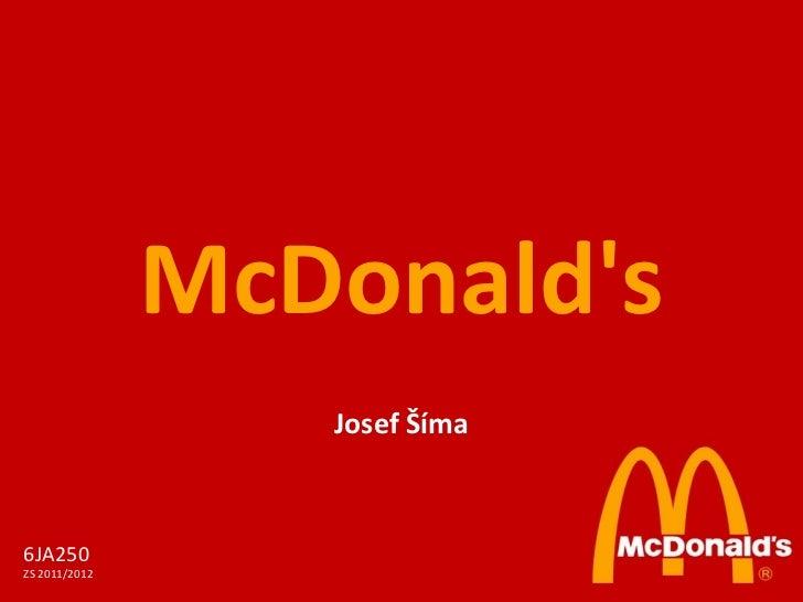 McDonald's Josef Šíma 6JA250 ZS 2011/2012